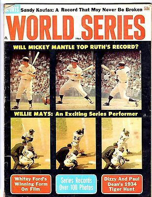 1964 World Series magazine with articles of Mickey Mantle, Willie Mays ,S Koufax