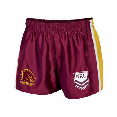 NRL Supporter Footy Shorts - Brisbane Broncos - Kids Youth Adults - BNWT