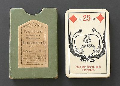 Antique 1930's Lenormand Fortune Telling Oracle Cards Deck Vtg Germany