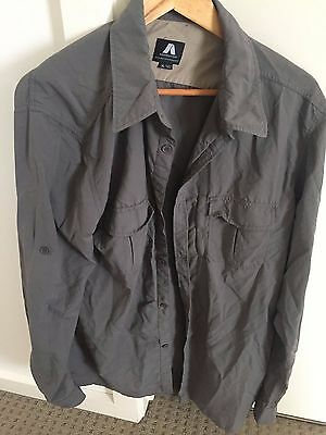 Men's grey camping travel shirt quick dry size XL