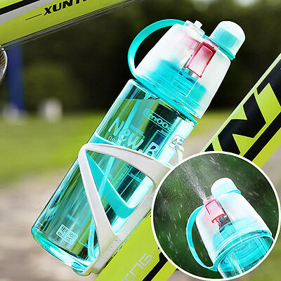 NEW Creative Spray Water Bottle For Outdoor Bicycle Cycling Sports Gym Drinking