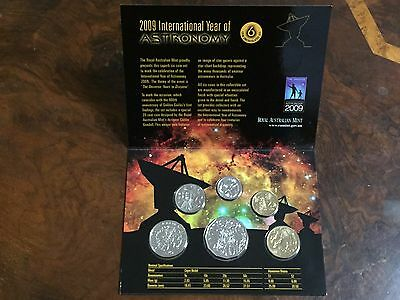2009 International Year of Astronomy 6 coin UNC Royal Australian Mint set