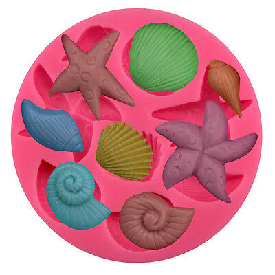 Starfish Snail Silicone Cake Mould Fondant Sugar Craft Chocolate Decorate Tool