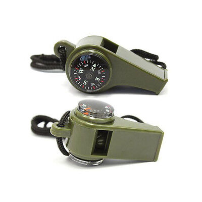 ER 3 In 1 Multi-function Survival Safety Whistle Compass life-saving Lifeguard