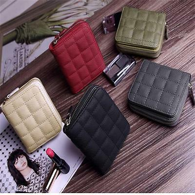 Women PU Leather Small Mini Wallet Card Holder Zipper Coin Purse Clutch Handbag