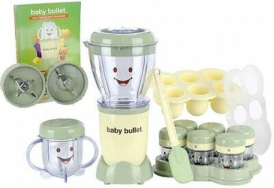 Baby Bullet Food System 20-Piece Blender Mixer Bowl Two Blades Cup Lid Cookbook
