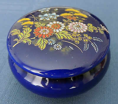 China Trinket Box / Container - Excellent Cond. - Hand Painted - Very Cute!