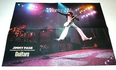 LED ZEPPELIN~Guitar One~GUITAR HEROES~16x21~JIMMY PAGE~Poster~2005~Excellent