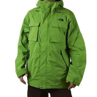 The North Face Decagon Mens Ski Snowboard Jacket Winter Snow Coat S Green