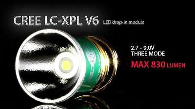 New SolarForce Cree XP-L V6 830Lm Led Bulb Flashlight Torch 3 Mode for Surefire