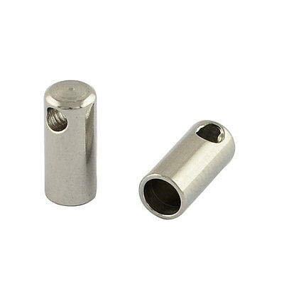 Silver Stainless Steel Cord Ends - Multiple Sizes - 304 Grade Stainless Steel