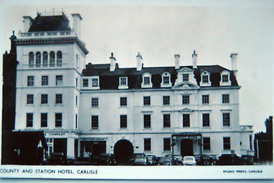 Old Real Photo   Postcard-  County And Station Hotel,carlisle