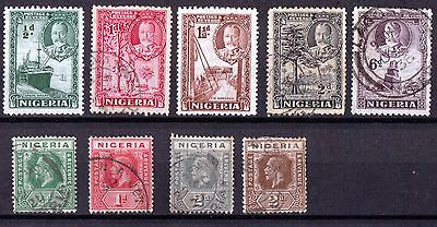 Nigeria King George V Used Collection.
