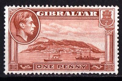 Gibraltar King George VI 1940 1d Yellow Brown Perf 13.5  SG122a Unused.