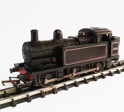TRIANG HORNBY - BR #47606 JINTY STEAM LOCOMOTIVE - CLASS 3F - OO GUAGE - black