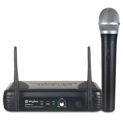 Skytec 179.185 VHF Wireless Microphone System with Handheld Mic