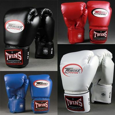 Twins Muay Thai Boxing Training Fighting Gloves Sports Black Blue White Red