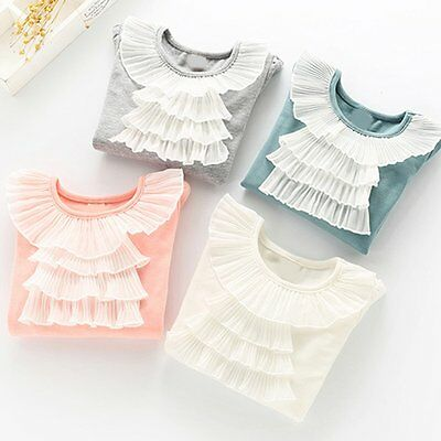 Toddler Baby Kids Girls Clothes Long Sleeve Casual Cotton Tops T-Shirt Blouse