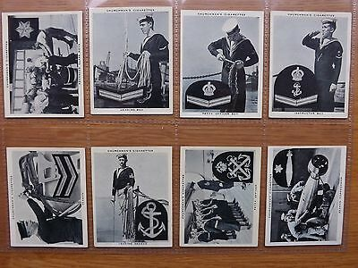 THE NAVY AT WORK  - CHURCHMAN'S  - Complete Set of 48 - 1937  - EX/EX+