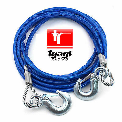 7000kg 4 MTR HEAVY DUTY STEEL TOW CAR ROPE WIRE PULL ROAD RECOVERY CAR VAN