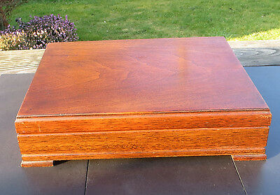 Vintage Wooden Empty Cutlery Box / Canteen - Prov Patent 28251