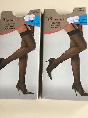 2 Pairs Of Sheer Stockings M/L