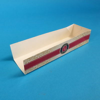 "500 Hotdog Trays Hot Dog to go Verpackung Pappe ""Feel Good"" 200x50x40mm"