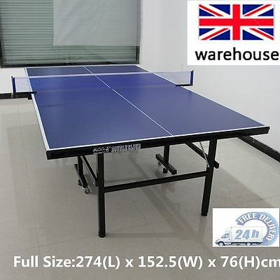 Full Size Indoor Outdoor Gym Foldable Compact Ping Pong Tennis Table Desk UK SUM