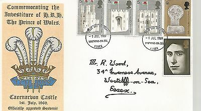 First day covers   Investiture   of  H.R.H.  The  prince of Wales