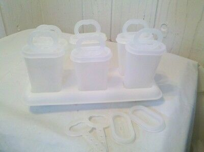 Excellent condition VINTAGE TUPPERWARE SET OF 6 POPSICLE WHITE MOLDS