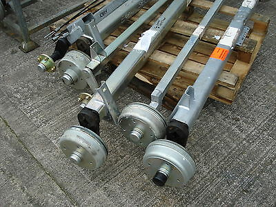 1000 kg TRAILER AXLE - 4 x M12 on 139.7 mm PCD