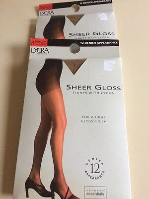 2 Pairs Of Sheer Gloss Tights X Large