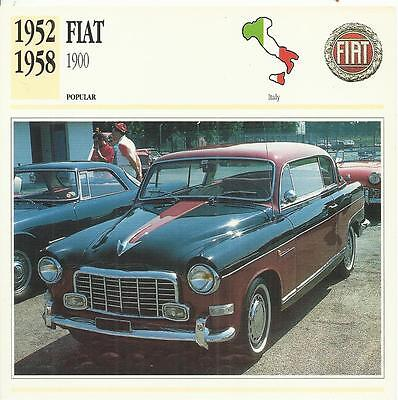 FIAT 1900 1952 - 1958 original 2-sided Edito collector's trading card