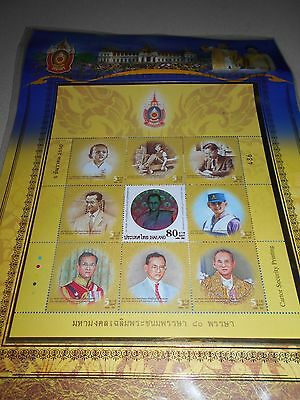 Thailand stamps commemorating the King's 80th Birthday