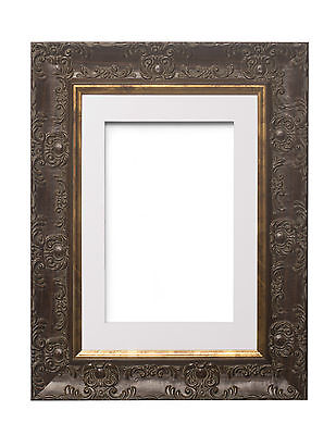 Wide Ornate MUSE Picture / Photo Frame Poster Frame with Bespoke Mount  Walnut