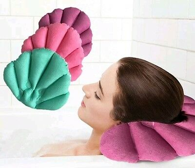 UK SELLER ORIGINAL Inflatable Bath Pillow relax your Head Neck- very comfortable