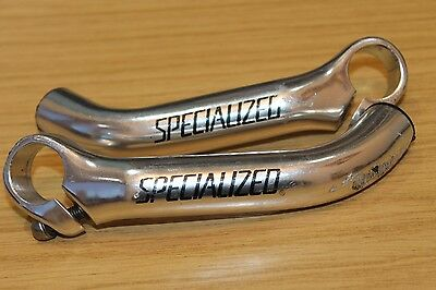 Specialized Dirt Rodz Silver Bike Bar Ends Bull Horns Handlebar Bullhorn Retro