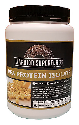 Organic Pea Protein Isolate 1 to 3 kg Tubs Sprouted & Bio Fermented (Scoop Inc)