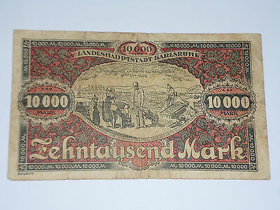 Germany- Landeshauptstadt Karlruhe- 10 000 Mark- Rare