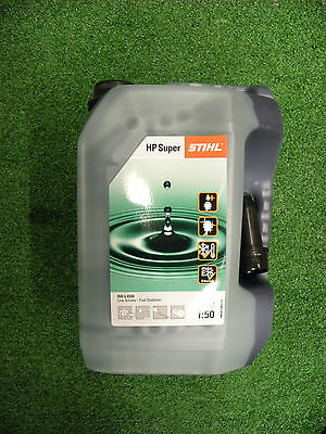 STIHL HP SUPER 2 STROKE OIL 5L  4-MIX FULLY SYNTHETIC FOR 2 STROKE Mix