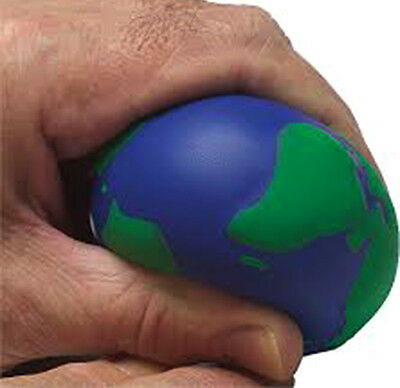 NEW Stress Relief World Foam Globe Palm Ball Planet Earth Stressball Physio UK