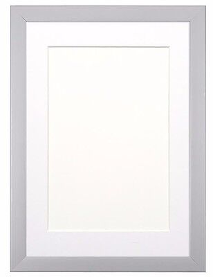 Rainbow Colour Range Picture Photo Frame Poster Frame  Grey With Bespoke Mount