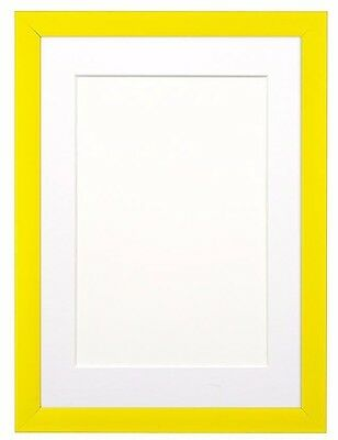 Rainbow Colour Range Picture Photo Frame Poster Frame  Yellow With Bespoke Mount