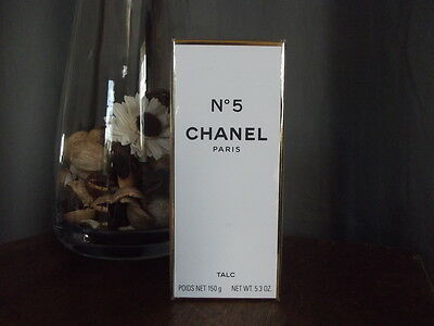 CHANEL NO.5 TALC - BODY POWDER - RARE DISCONTINUED LARGE 150g BRAND NEW SEALED