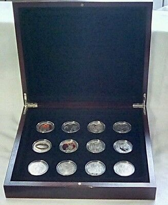 Lord of the rings silver $1 coins. Set of 12 (2003)