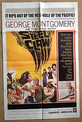 THE STEEL CLAW (1961) Rare Original US One Sheet Movie Poster George Montgomery