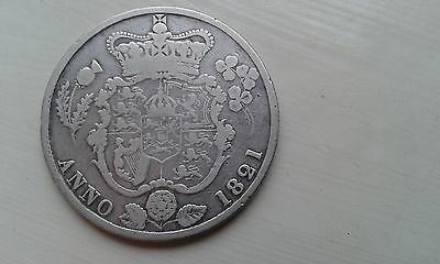1821 George IIII (IV) Half-Crown - Silver & Collectable - Low mintage.