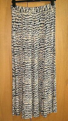 Warehouse high-waisted Maxi-skirt with slit size 10