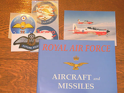 """Royal Air Force """"Aircraft and Missiles"""" Book, Postcard and Stickers ( 1991 )"""