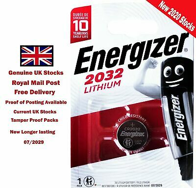 1 x NEW GENUINE Energizer CR2032 3V Lithium Coin Cell Battery 2032 DL2032